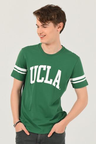 UCLA - COLUSA Yeşil Bisiklet Yaka Erkek T-shirt