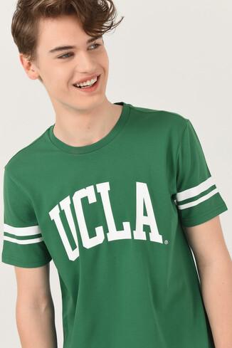 UCLA - COLUSA Yeşil Bisiklet Yaka Erkek T-shirt (1)