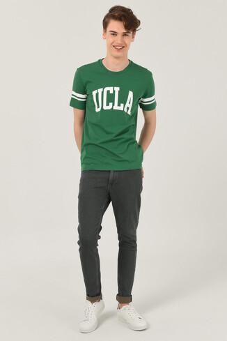 COLUSA Yeşil Bisiklet Yaka Erkek T-shirt - Thumbnail (2)