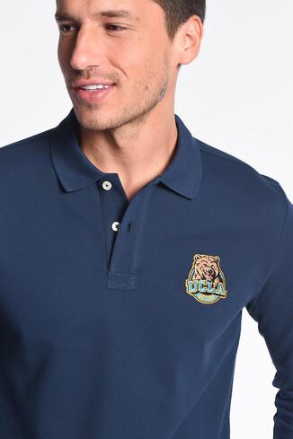 UCLA - COMPTON Lacivert Polo Yaka Nakışlı Erkek Sweatshirt (1)