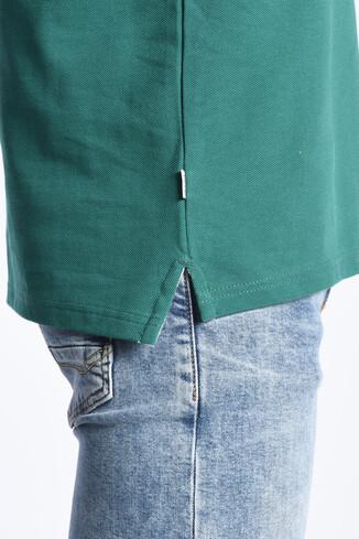 COMPTON Yeşil Polo Yaka Nakışlı Erkek Sweatshirt - Thumbnail (3)