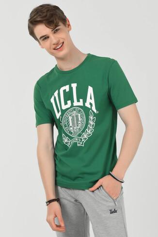 UCLA - CONCORD Yeşil Bisiklet Yaka Erkek T-shirt