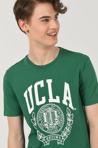 CONCORD Yeşil Bisiklet Yaka Erkek T-shirt - Thumbnail (2)