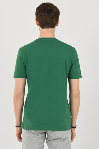 CONCORD Yeşil Bisiklet Yaka Erkek T-shirt - Thumbnail (6)