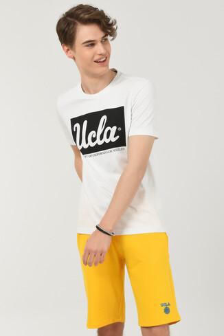 UCLA - DAVIS Beyaz Bisiklet Yaka Erkek T-shirt