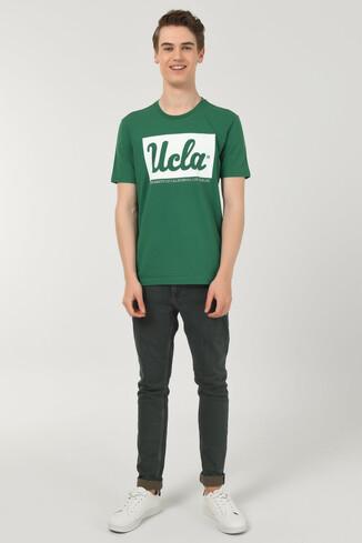 DAVIS Yeşil Bisiklet Yaka Erkek T-shirt - Thumbnail (2)
