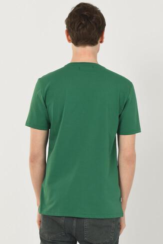 DAVIS Yeşil Bisiklet Yaka Erkek T-shirt - Thumbnail (3)
