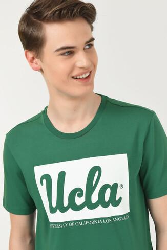 DAVIS Yeşil Bisiklet Yaka Erkek T-shirt - Thumbnail (4)