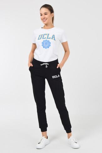 UCLA - DIMAS Siyah Daralan Kesim Nakışlı Kadın Eşofman Alt (1)