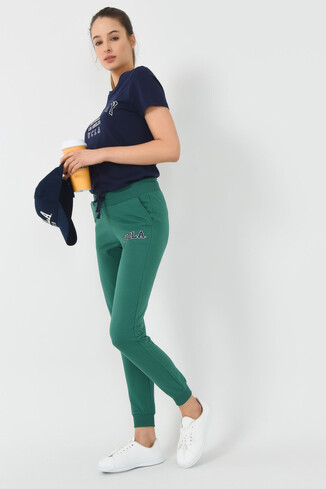 UCLA - DIMAS Yeşil Daralan Kesim Nakışlı Kadın Eşofman Alt
