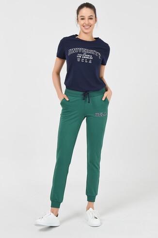 UCLA - DIMAS Yeşil Daralan Kesim Nakışlı Kadın Eşofman Alt (1)