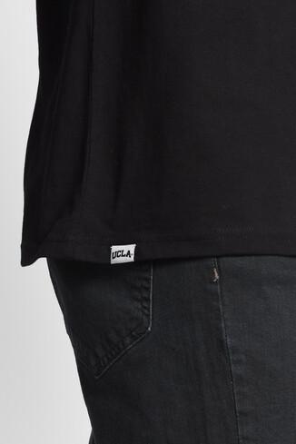 DIXON Siyah Bisiklet Yaka Oversize Erkek Tshirt - Thumbnail (3)