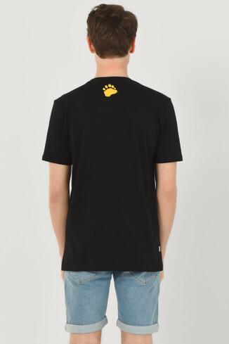 GALT Siyah Bisiklet Yaka Baskılı Erkek T-shirt - Thumbnail (3)