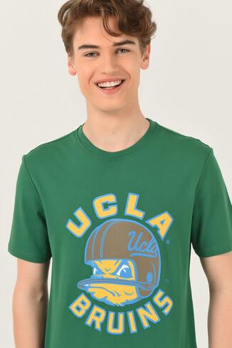 UCLA - GALT Yeşil Bisiklet Yaka Baskılı Erkek T-shirt