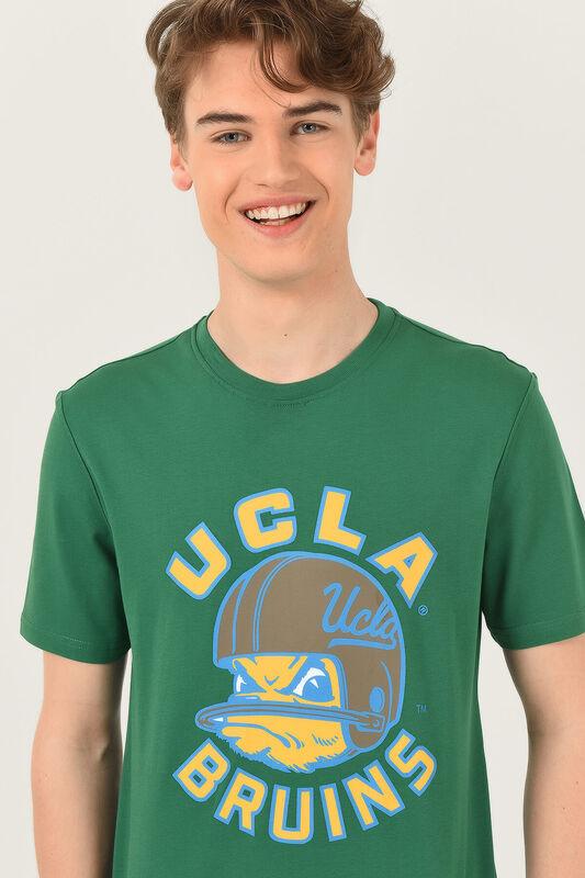 GALT Yeşil Bisiklet Yaka Baskılı Erkek T-shirt - Thumbnail