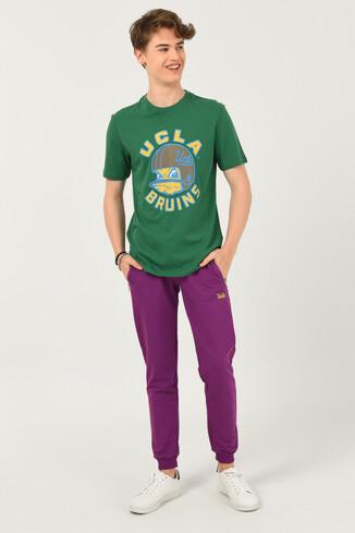 GALT Yeşil Bisiklet Yaka Baskılı Erkek T-shirt - Thumbnail (2)