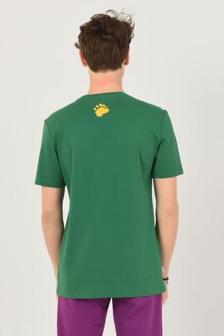 GALT Yeşil Bisiklet Yaka Baskılı Erkek T-shirt - Thumbnail (3)