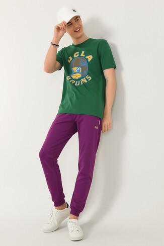 GALT Yeşil Bisiklet Yaka Baskılı Erkek T-shirt - Thumbnail (4)