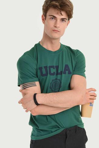 UCLA - GAYLEY Yeşil Bisiklet Yaka Erkek T-shirt (1)