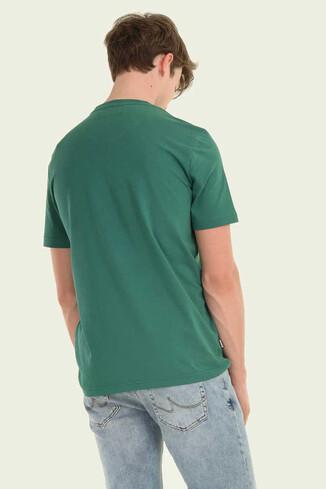 GAYLEY Yeşil Bisiklet Yaka Erkek T-shirt - Thumbnail (2)