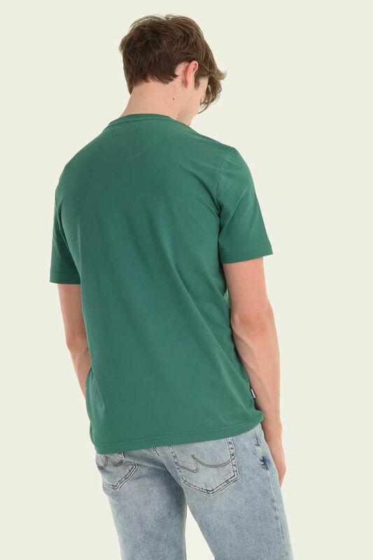 GAYLEY Yeşil Bisiklet Yaka Erkek T-shirt - Thumbnail