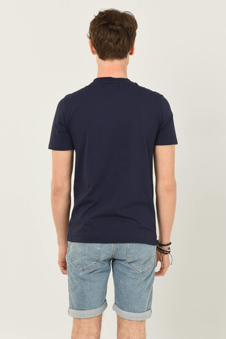 GORMAN Lacivert Bisiklet Yaka Erkek T-shirt - Thumbnail (2)