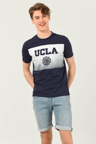 GORMAN Lacivert Bisiklet Yaka Erkek T-shirt - Thumbnail (3)