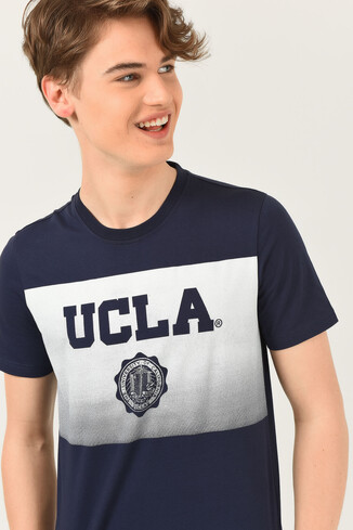 UCLA - GORMAN Lacivert Bisiklet Yaka Erkek T-shirt