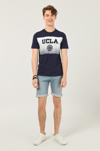 GORMAN Lacivert Bisiklet Yaka Erkek T-shirt - Thumbnail (4)