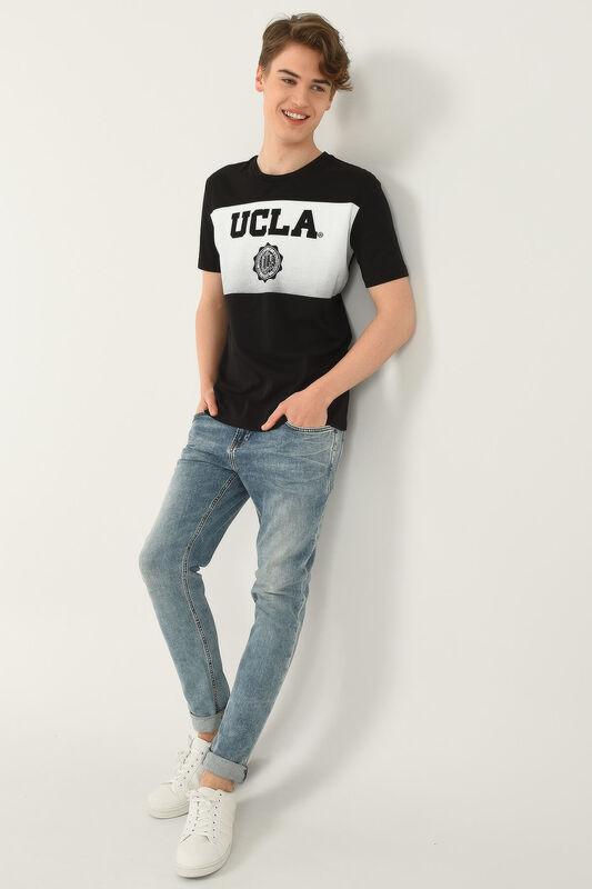 GORMAN Siyah Bisiklet Yaka Erkek T-shirt - Thumbnail