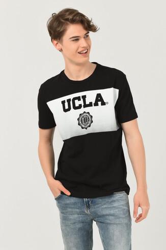 UCLA - GORMAN Siyah Bisiklet Yaka Erkek T-shirt (1)