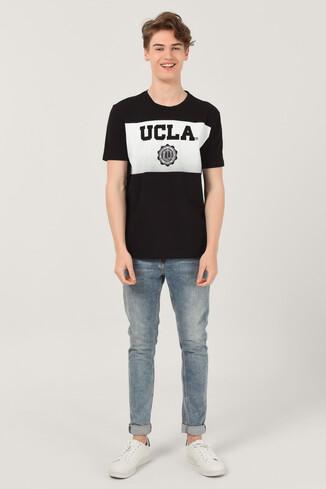 GORMAN Siyah Bisiklet Yaka Erkek T-shirt - Thumbnail (2)