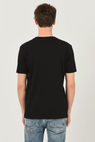 GORMAN Siyah Bisiklet Yaka Erkek T-shirt - Thumbnail (3)