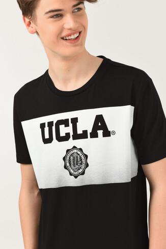 GORMAN Siyah Bisiklet Yaka Erkek T-shirt - Thumbnail (4)