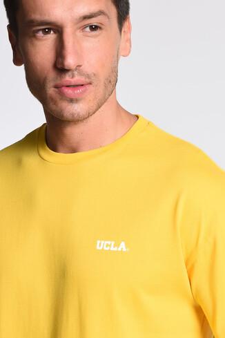 GROVE Sarı Bisiklet Yaka Arkası Baskılı Oversize Erkek Tshirt - Thumbnail (3)