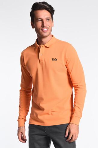 UCLA - GUSTINE Turuncu Polo Yaka Nakışlı Erkek Sweatshirt