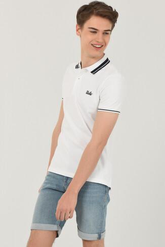 UCLA - HAMMER Beyaz Polo Yaka Erkek T-shirt (1)