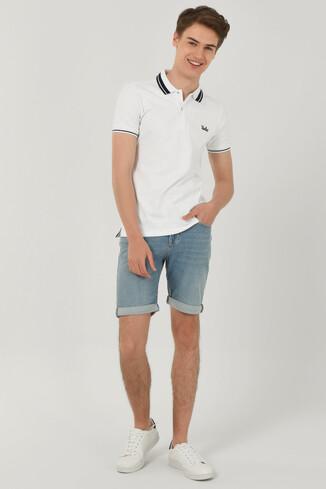 HAMMER Beyaz Polo Yaka Erkek T-shirt - Thumbnail (2)