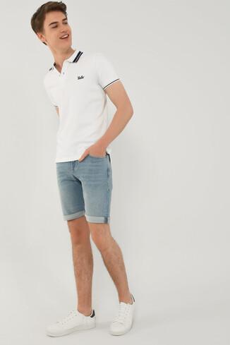 UCLA - HAMMER Beyaz Polo Yaka Erkek T-shirt