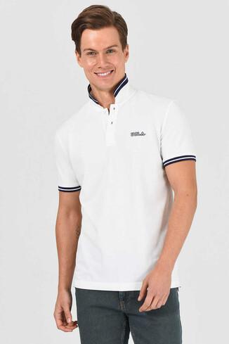 HAMMER Beyaz Polo Yaka Erkek T-shirt - Thumbnail (4)
