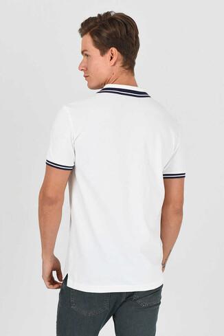 HAMMER Beyaz Polo Yaka Erkek T-shirt - Thumbnail (3)