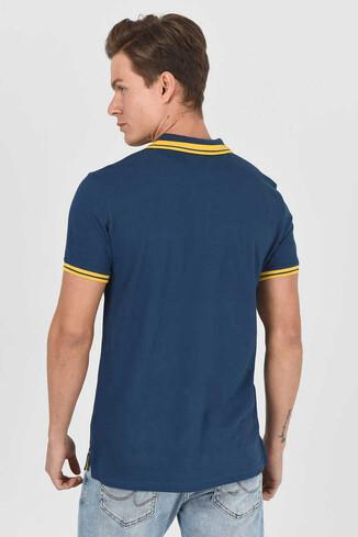 HAMMER Lacivert Erkek Polo Yaka T-Shirt - Thumbnail (2)