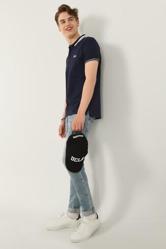 UCLA - HAMMER Lacivert Polo Yaka Erkek T-shirt