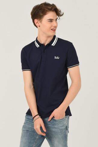 UCLA - HAMMER Lacivert Polo Yaka Erkek T-shirt (1)