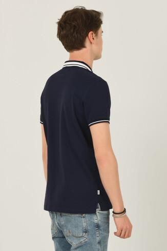 HAMMER Lacivert Polo Yaka Erkek T-shirt - Thumbnail (4)