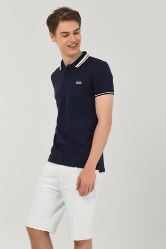 HAMMER Lacivert Polo Yaka Erkek T-shirt - Thumbnail (6)