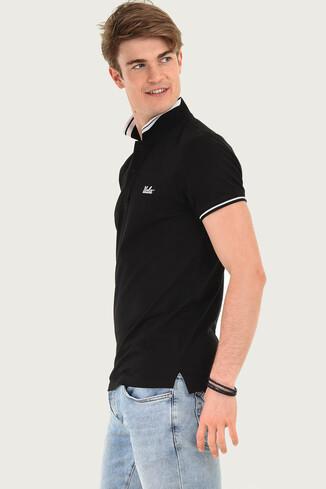 HAMMER Siyah Polo Yaka Erkek T-shirt - Thumbnail (2)