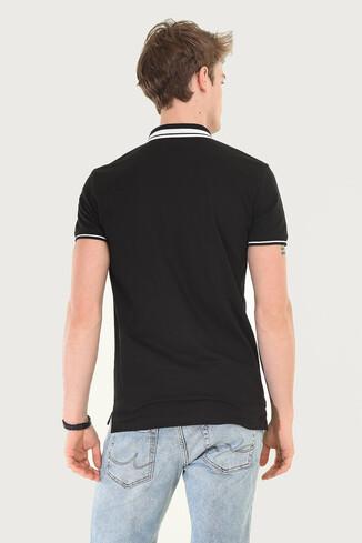 HAMMER Siyah Polo Yaka Erkek T-shirt - Thumbnail (3)