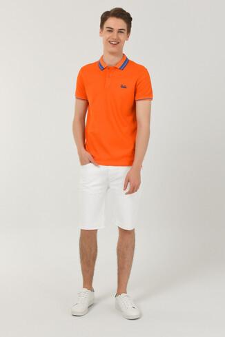 HAMMER Turuncu Polo Yaka Erkek T-shirt - Thumbnail (3)