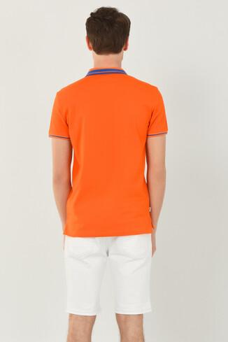 HAMMER Turuncu Polo Yaka Erkek T-shirt - Thumbnail (4)
